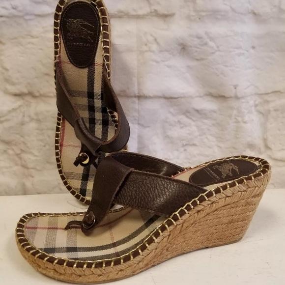 bf29e624c01c Burberry Shoes - Burberry sandal wedges